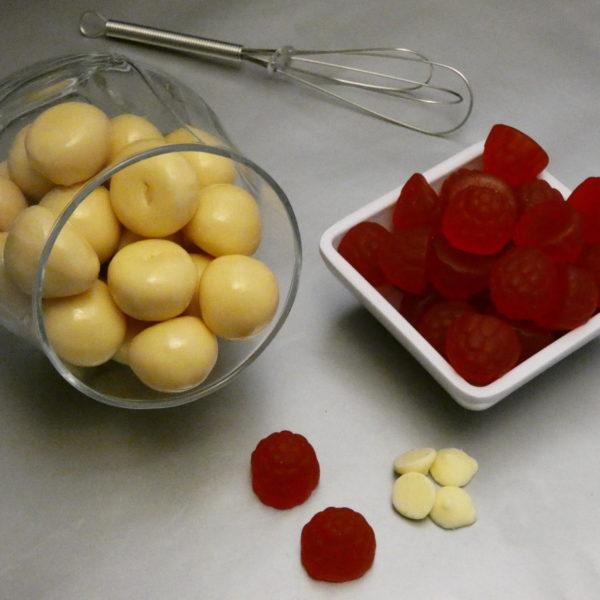 White Chocolate Raspberries